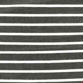 Tissu sweat léger de viscose rayé Allegra - blanc/gris x 10cm
