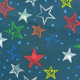 Tissu Néoprène Stars doublé polaire bleu x 10cm