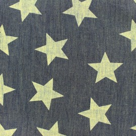 ♥ Coupon tissu 10 cm X 145 cm ♥ Jeans léger chambray Big Stars - bleu vintage