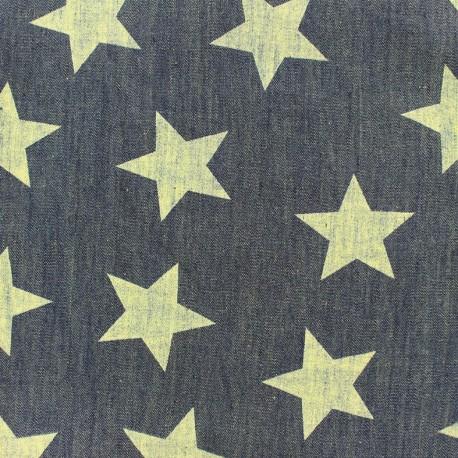 Light chambray jeans fabric Big Stars - blue vintage x 10cm