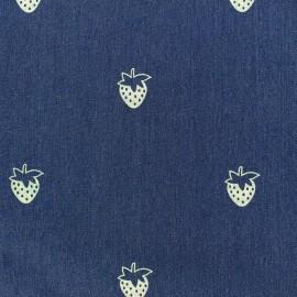 Jeans fabric Fraise - dark blue x 10cm