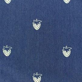 Jeans fabric Fraise - denim blue x 10cm