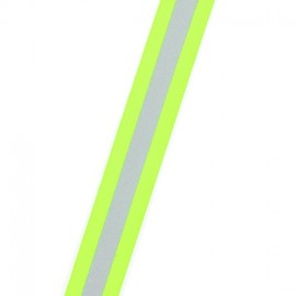 Reflective ribbon X 1m - fluorescent yellow