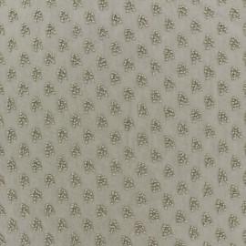 Tissu mousseline plumetis Detroit - blanc x 50 cm