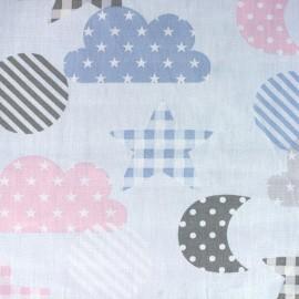 Tissu coton popeline Qjutie Kids Sweet Dreams - bleu ciel x 31cm