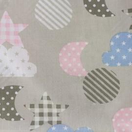 Tissu coton popeline Qjutie Kids Sweet Dreams - beige x 31cm