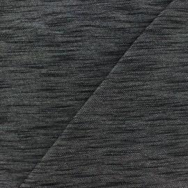 Tissu Lycra chambray Denim - noir x 10cm