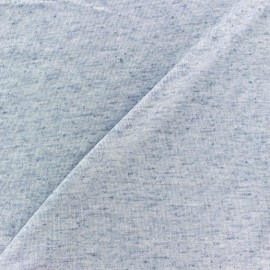 Sequined linen light stitch fabric - blue x 10cm