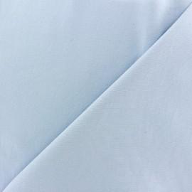♥ Coupon 260 cm X 140 cm ♥ Tissu Gabardine Lycra mat v.2 bleu clair