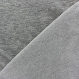 Tissu sweat gris chiné x 10cm