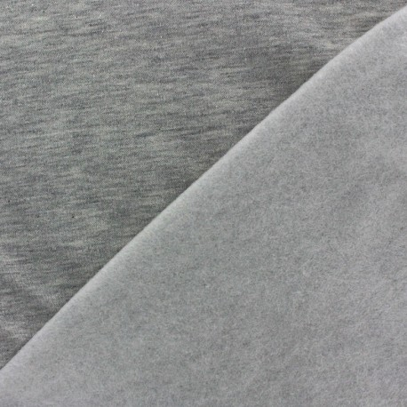 Mocked sweat Fabric - grey x 10cm