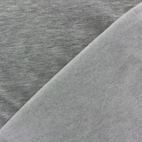 Tissu sweat gris chiné x 10cm