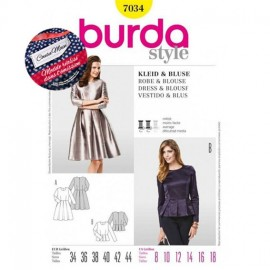Patron Robe & Blouse Burda n°7034