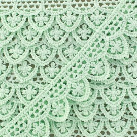 Guipure lace ribbon, Margot 20 mm - seagreen x 1m