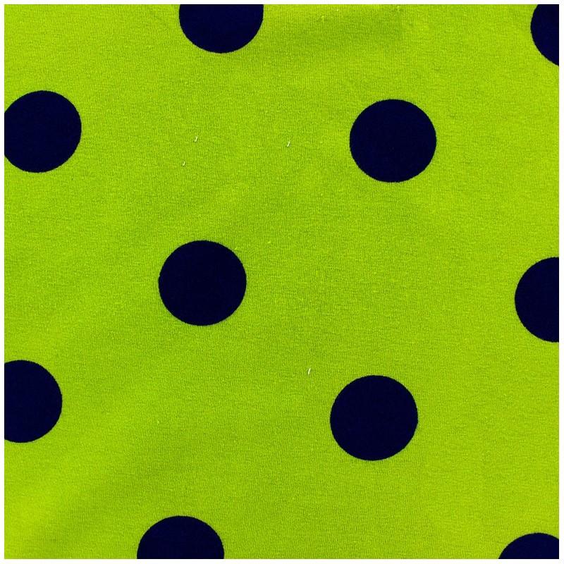 0890ae672c7d Poppy Stars Jersey Fabric - navy light green x 10cm - Ma Petite Mercerie
