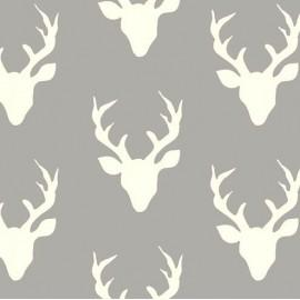 Tissu Coton AGF Hello, Bear - Buck Forest Mist x 20cm