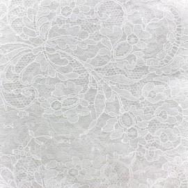Lace of Calais® Fabric Fleurs - white x 10cm