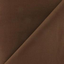 Tissu voile de coton marron x 10cm