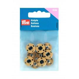 5 boutons pressions à coudre laiton 14mm - sable