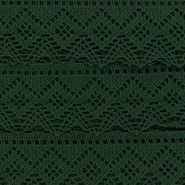 Ruban Dentelle au fuseau 43mm - vert x 50cm