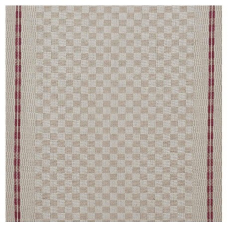 Tea towels canvas fabric Damier - red x 10cm