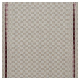 Tea towels canvas fabric Damier - plum x 10cm