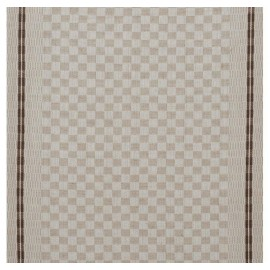 Tea towels canvas fabric Damier - chocolate x 10cm
