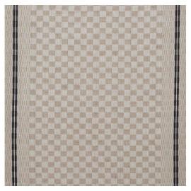 Tissu toile torchon Damier - bleu x 10cm