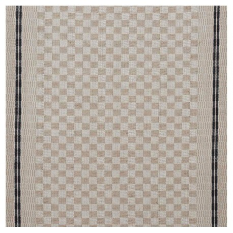 Tea towels canvas fabric Damier - blue x 10cm