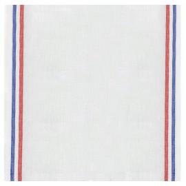 Tissu toile torchon lin - blanc x 10cm