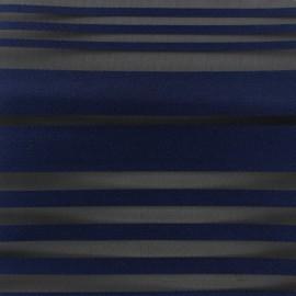 Tissu Organza rayé bleu nuit x 20cm