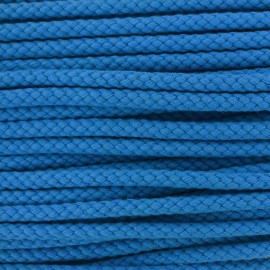 Braided cord 7mm - blue x 1m