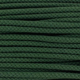 Braided cord 7mm - dark green x 1m