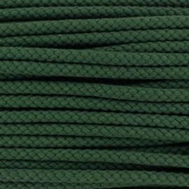 Cordon tressé 7 mm - vert foncé x 1m