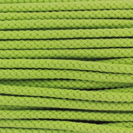 Braided cord 7mm - light green x 1m