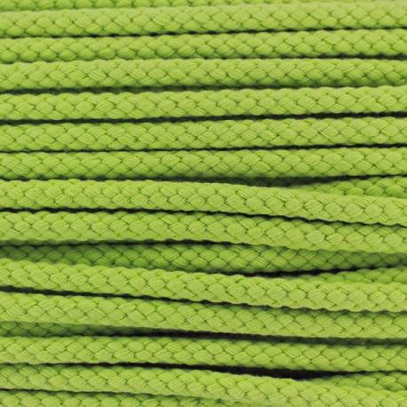 Cordon tressé 7 mm - vert clair x 1m