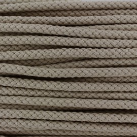 Braided cord 7mm - beige x 1m