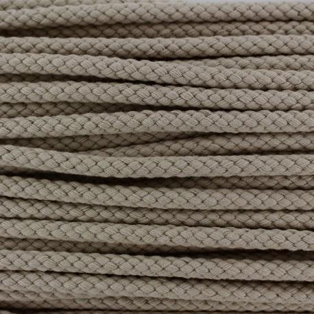 Cordon tressé 7 mm - beige x 1m