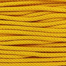 Cordon tressé 7 mm - jaune x 1m