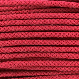 Braided cord 7mm - red x 1m