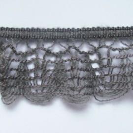 Dentelle laine élastique gris
