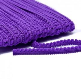 Galon little pompon - violet x 1m