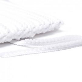 Galon little pompon - blanc x 1m