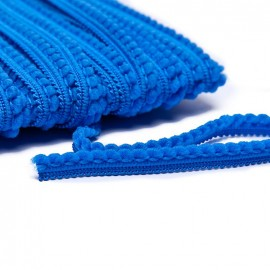 Galon little pompon - bleu roy x 1m