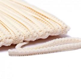 Galon little pompon - crème x 1m