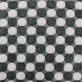 Tissu Doudou Confettis - gris x 10cm