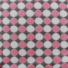 Tissu Doudou Confettis - rose x 10cm