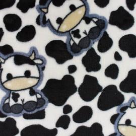Tissu Doudou Pretty Cow - écru x 10cm