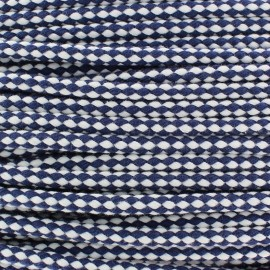 Two tone braided cord 7mm - navy x 1m