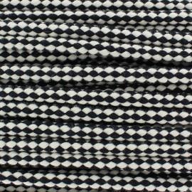 Two tone braided cord 7mm - black x 1m